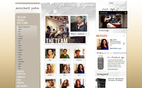 Screenshot of Team Page mjsalon.com - The Team | Mitchell John - captured Oct. 26, 2014