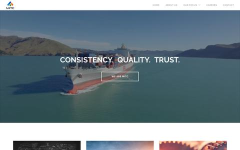 Screenshot of Home Page mitcorporation.com - MIT Corporation | Consistency. Quality. Trust. - captured July 21, 2016