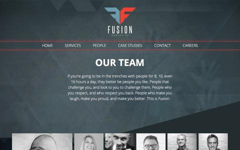 Screenshot of Team Page thisisfusion.com - Employees - captured May 10, 2018