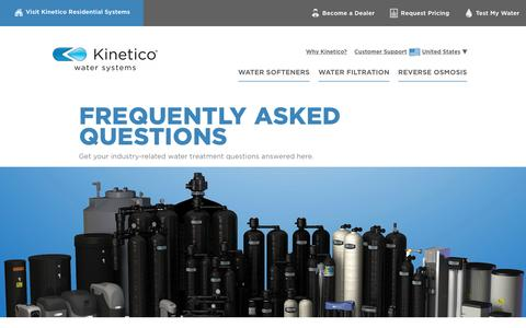 Screenshot of FAQ Page kinetico.com - Frequently Asked Questions | Kinetico Commercial Water Systems - captured Dec. 29, 2016