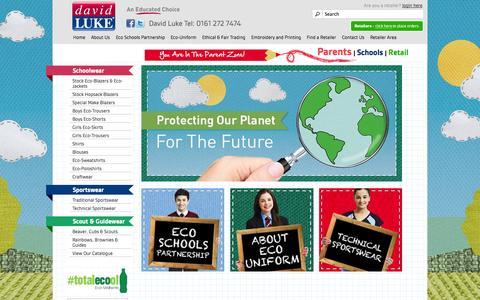 Screenshot of Home Page davidluke.com - David Luke - captured Oct. 5, 2014