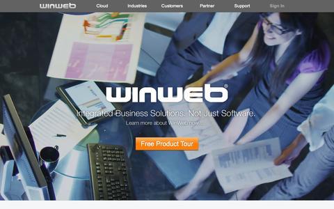 Screenshot of Home Page winweb.com - WinWeb | Cloud - captured Oct. 5, 2015
