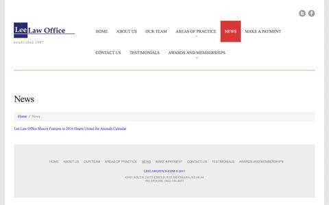 Screenshot of Press Page leelawoffice.com - News     leelawoffice.com - captured July 29, 2017