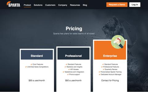 Pricing |      Sparta - Take your sales results to the next level