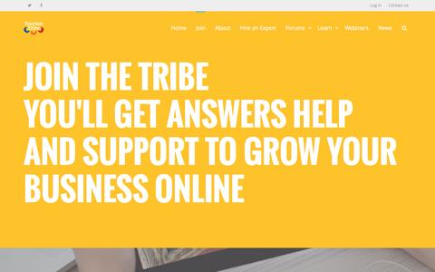 Screenshot of Signup Page tourismtribe.com - Digital Marketing and Productivity for Tourism Businesses - captured March 29, 2016