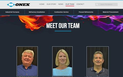 Screenshot of Team Page onexnet.com - Meet Our Team - Onex Net - captured Feb. 14, 2016