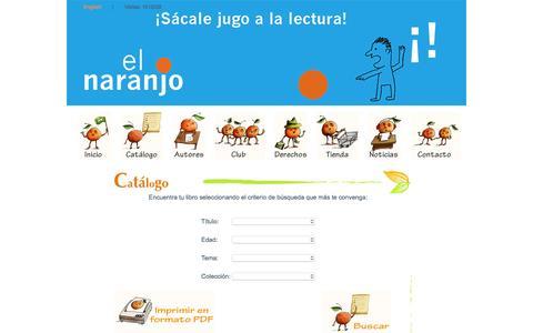 """Screenshot of Products Page edicioneselnaranjo.com.mx - Ediciones """"El Naranjo"""" - Productos - captured Dec. 7, 2015"""