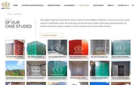 Screenshot of Case Studies Page lioncontainers.co.uk - Container Case Studies | Lion Containers Ltd - captured Nov. 10, 2018