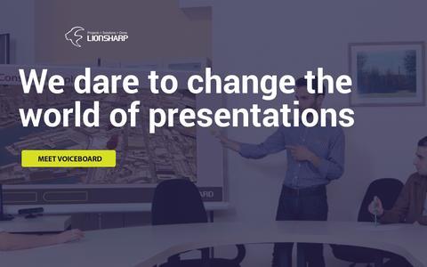 Screenshot of Home Page lionsharp.com - Lionsharp Solutions - captured July 11, 2014