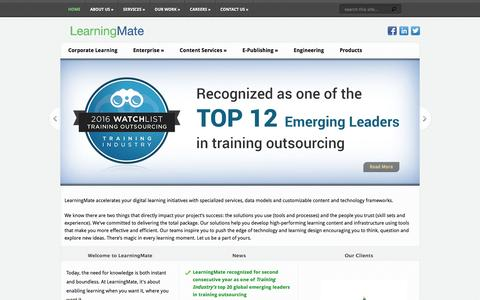 Screenshot of Home Page learningmate.com - LearningMate Solutions Pvt Ltd | Innovative and Effective Learning Solutions - captured May 16, 2017