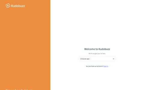 Screenshot of Signup Page kudobuzz.com - Kudobuzz - captured Feb. 21, 2019