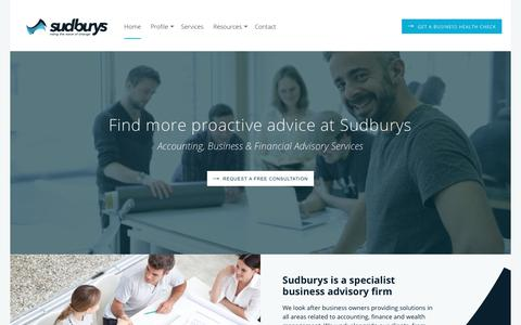 Accountants, Business & Financial Advisory | Sudburys