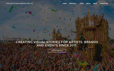Screenshot of Home Page vincentvandenboogaard.nl - vincentvandenboogaard.nl - photography for artists, brands and events - captured Feb. 17, 2016