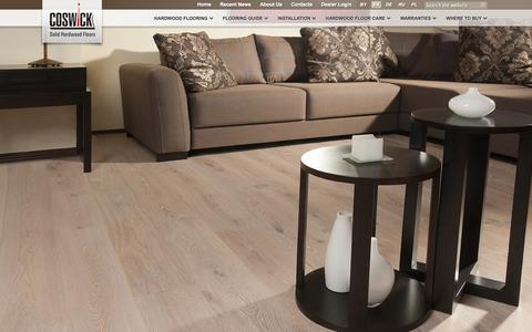 Screenshot of Home Page coswick.com - Coswick - Prefinished Solid and Engineered Hardwood Floors - captured Oct. 3, 2014