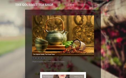 Screenshot of Home Page gourmet-teashop.com - The Gourmet Tea Shop   - The Gourmet Tea Shop in Leixlip, Dublin. We sell the best designer premium tea brands in our shop and online. - captured Sept. 7, 2015