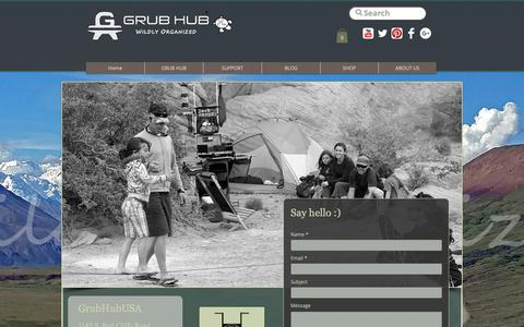 Screenshot of Contact Page grubhubusa.com - CONTACT | United States | Grub Hub - captured Oct. 16, 2018