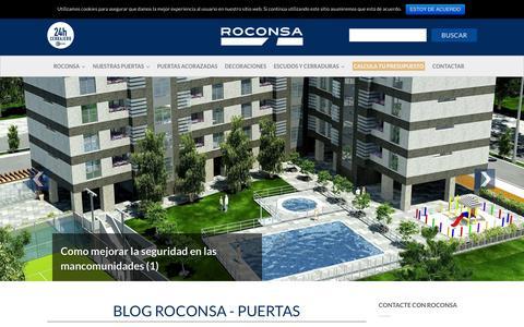 Screenshot of Blog roconsa.com - Blog | Roconsa - captured Feb. 27, 2016