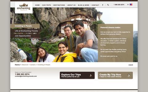 Screenshot of Jobs Page enchanting-travels.com - Investing in People - Enchanting Travels - captured Oct. 28, 2014