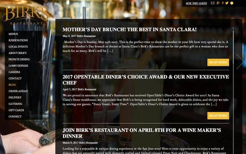 Screenshot of Blog birksrestaurant.com - Blog - captured June 1, 2017