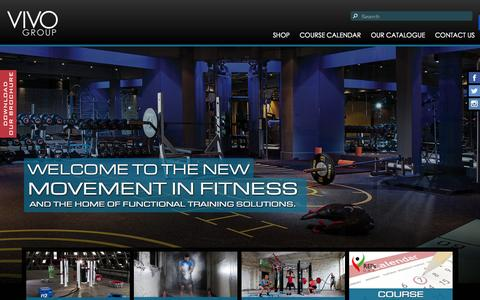 Screenshot of Home Page vivogroup.me - VIVO Group - Functional Training Specialists - captured Oct. 7, 2014