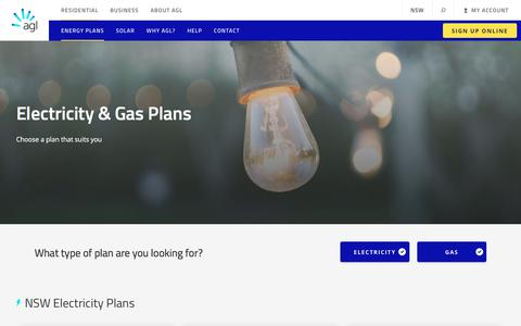 Electricity and Gas Plans | AGL