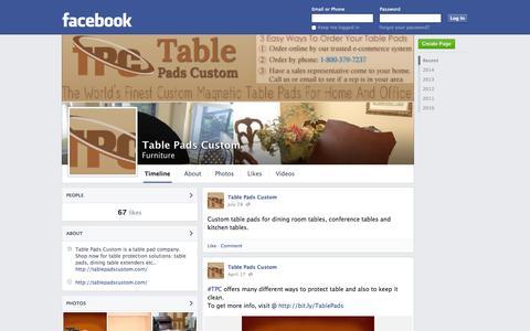 Screenshot of Facebook Page facebook.com - Table Pads Custom | Facebook - captured Oct. 26, 2014