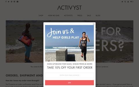 Screenshot of FAQ Page activyst.com - FAQ – Activyst - captured May 29, 2017