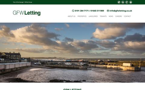 Screenshot of Home Page gfwletting.co.uk - GFW Letting - GFW Letting - captured Dec. 6, 2015