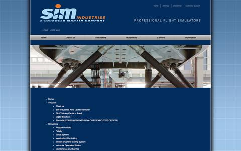 Screenshot of Site Map Page sim-industries.com - Site Map  |  Sim-Industries - captured Oct. 4, 2014