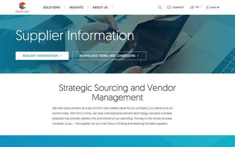 Supplier Information