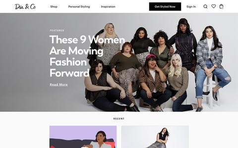 Screenshot of Blog dia.com - Plus Size Style Advice, Fashion Inspiration, News, Life & More | Dia&Co - captured Dec. 5, 2019