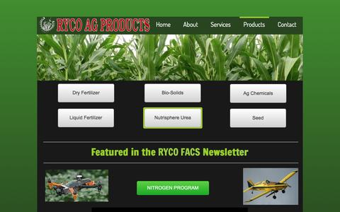Screenshot of Products Page rycoag.com - Products - captured Feb. 22, 2016