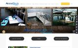 New Screenshot AccuDock - Floating Dock and Gangway Solutions Home Page