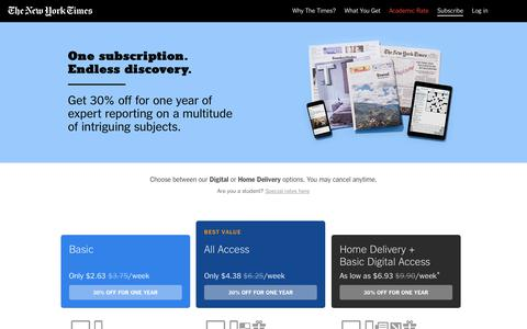 The New York Times: Digital and Home Delivery Subscriptions