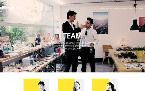 Screenshot of Team Page brandcelona.com - Team - captured Nov. 23, 2016