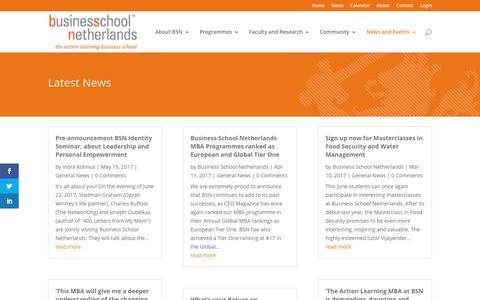 Screenshot of Press Page bsn.eu - News - BSN - Business School Netherlands - captured May 29, 2017