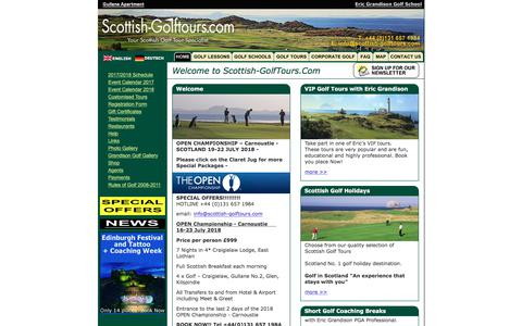 Screenshot of Home Page scottish-golftours.com - Scottish Golf Tours - Home Page - captured Oct. 23, 2017