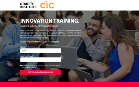 Screenshot of Landing Page startupinstitute.com - Program Guide - captured March 23, 2017