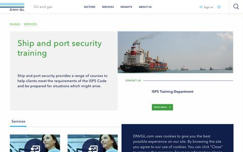 Screenshot of Services Page dnvgl.com - Ship and port security training - DNV GL - captured Dec. 7, 2019