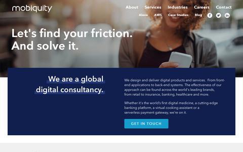 Screenshot of Home Page mobiquityinc.com - Mobiquity Inc - captured July 8, 2019