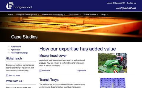 Screenshot of Case Studies Page bridgewooduk.com - Case Studies • Bridgewood UK - captured July 30, 2016