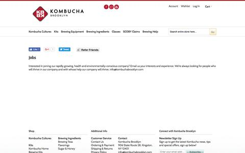 Screenshot of Jobs Page kombuchabrooklyn.com - Jobs - captured Aug. 9, 2016