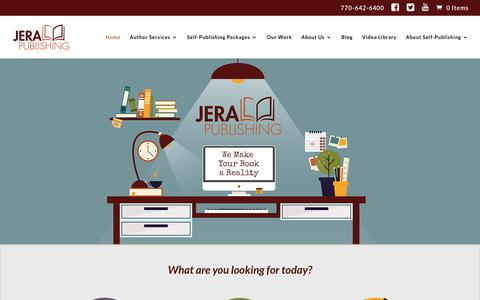 Screenshot of Home Page self-pub.net - Jera Publishing | We Make Your Book a Reality - captured Dec. 12, 2018