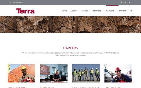 Screenshot of Jobs Page terracontracting.net - Terra Contracting   Careers - Terra Contracting Services - captured Nov. 30, 2016