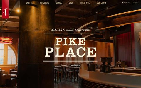 Screenshot of Locations Page storyville.com - Places - Storyville Coffee Company - captured Feb. 4, 2016