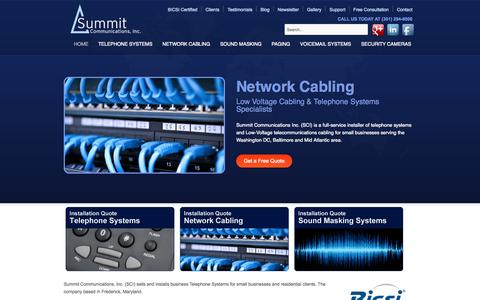 Screenshot of Home Page summitcommunicationsinc.com - Summit Communications Inc - Washington DC & Baltimore - captured Sept. 30, 2014