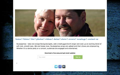Screenshot of Home Page soulpajamas.com - Soulpajamas - captured March 11, 2016