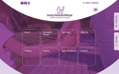 Screenshot of Home Page jerseywomensrefuge.org - Jersey Womens Refuge - captured Feb. 11, 2016