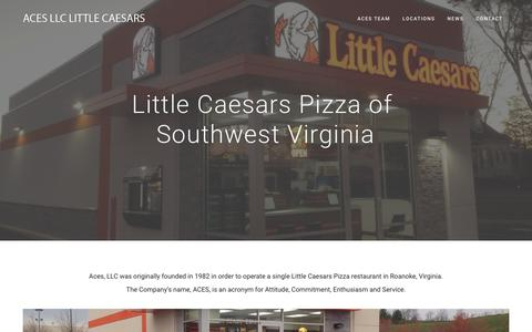 Screenshot of Home Page acespizza.com - Home - Aces LLC Little Caesars - captured Oct. 2, 2018