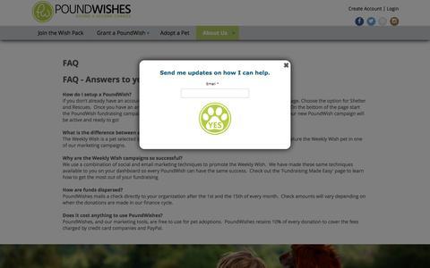 Screenshot of FAQ Page poundwishes.com - PoundWishes:: FAQ - captured July 14, 2016